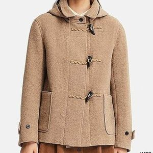 UNIQLO IDLF Short Wool Blend Duffel Coat Brown S